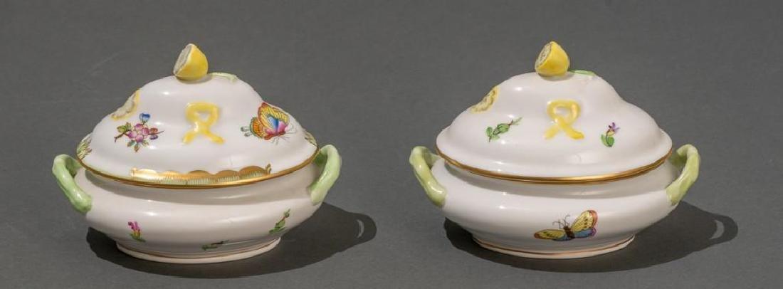"Herend, ""Queen Victoria"", 4 Miniature Covered Tureens - 6"