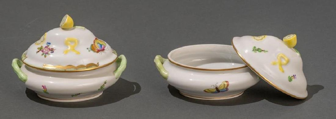 "Herend, ""Queen Victoria"", 4 Miniature Covered Tureens - 7"