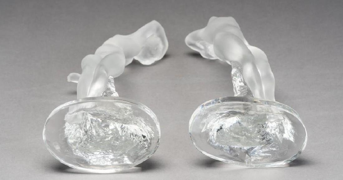 Lalique, France Nude Female, Signed Crystal Sculptures - 8