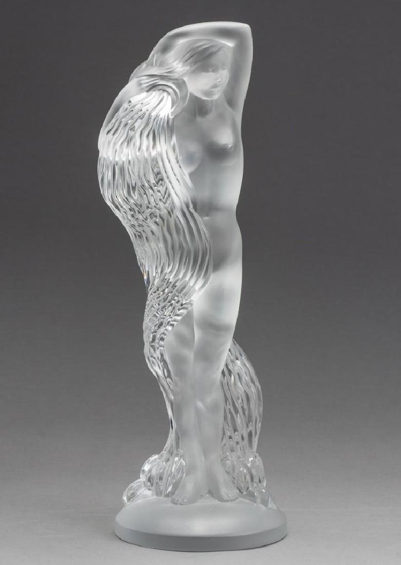 "Lalique, France ""Grand Nue Neredeis"", Signed Crystal"