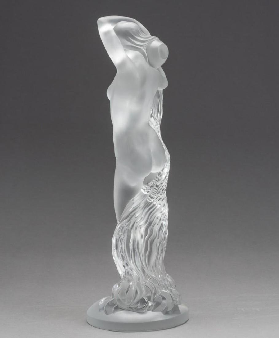 "Lalique, France ""Grand Nue Neredeis"", Signed Crystal - 7"