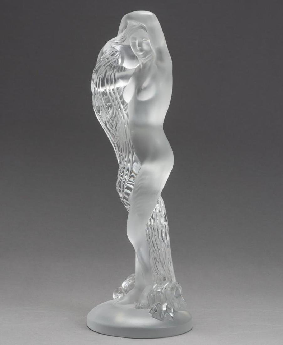 "Lalique, France ""Grand Nue Neredeis"", Signed Crystal - 9"
