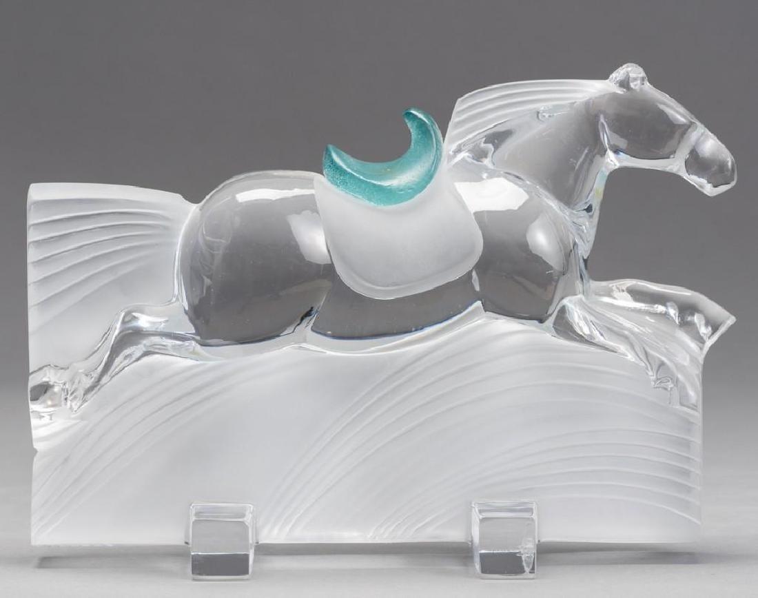 "Daum, France (20thc.),""Ming"" Race Horse Crystal"