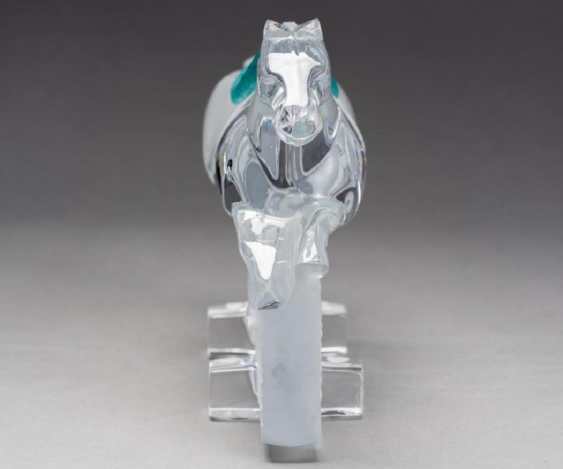 "Daum, France (20thc.),""Ming"" Race Horse Crystal - 3"