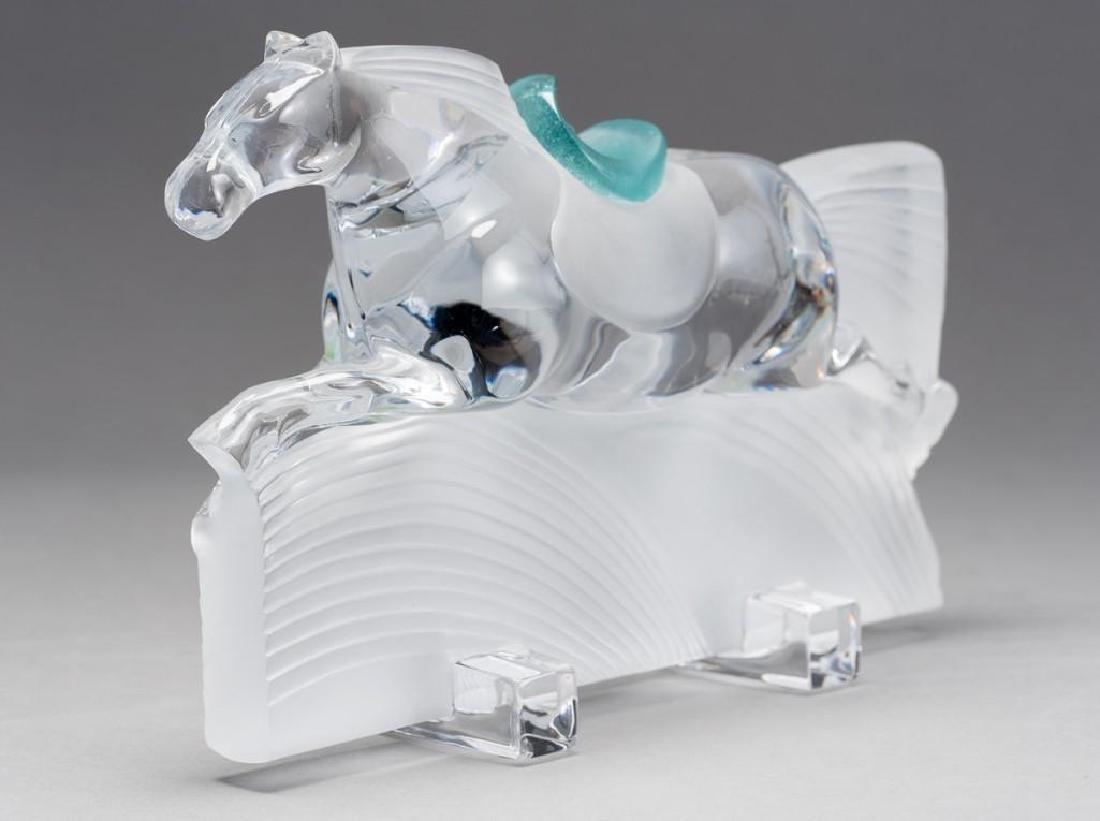 "Daum, France (20thc.),""Ming"" Race Horse Crystal - 4"