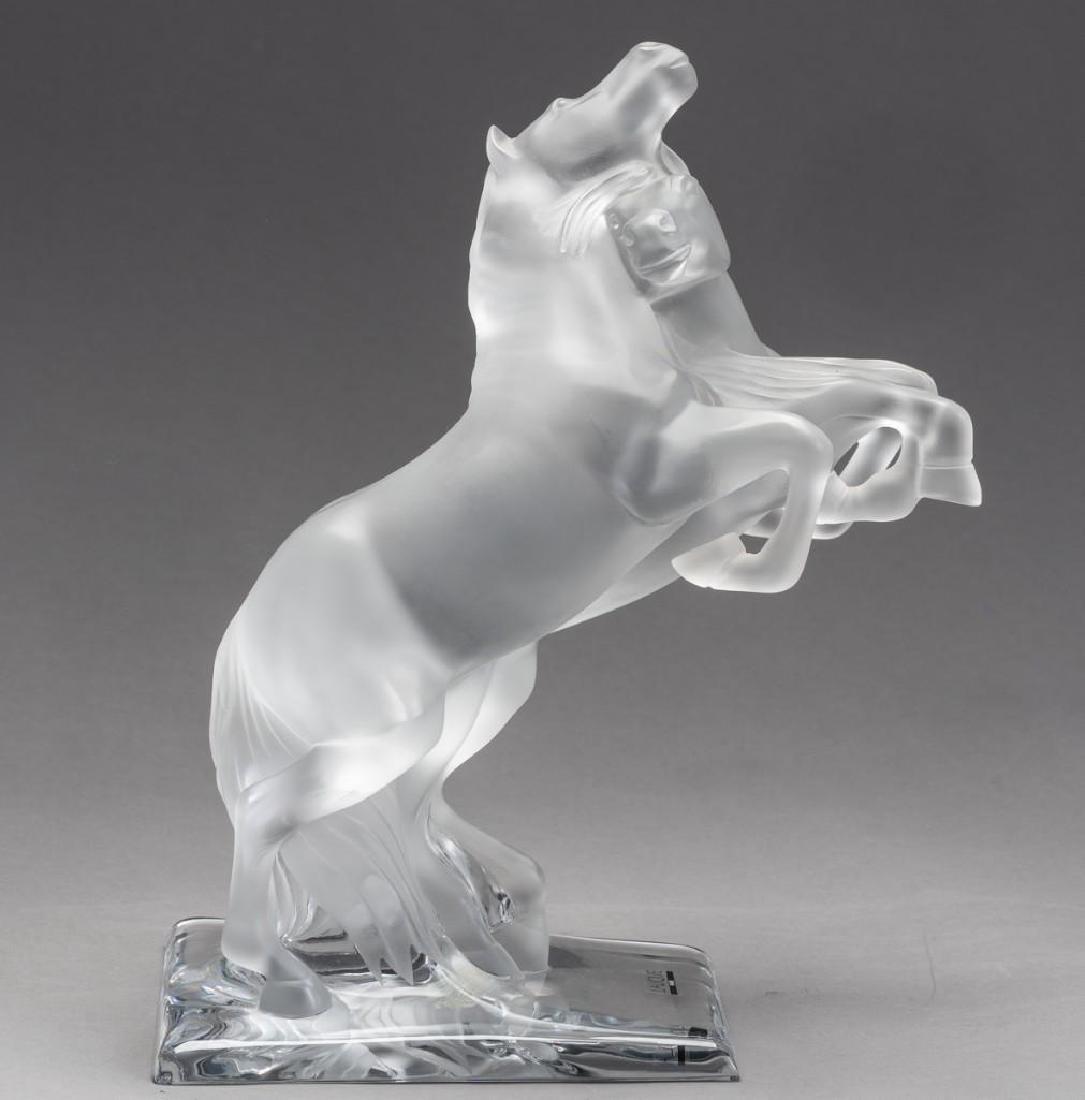"""Lalique, France """"Deux Chevaux"""" Wild Horses, Signed"""