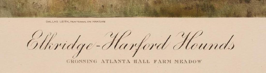 "Frank Brooke Voss, ""Elkridge-Harford Hounds"" Lithograph - 4"