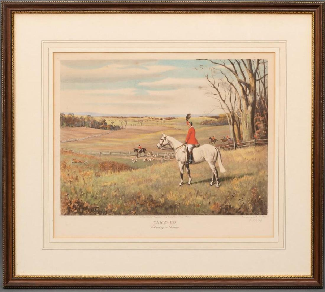 """Frank Brooke Voss, """"Tally-Ho"""" Lithograph - 2"""