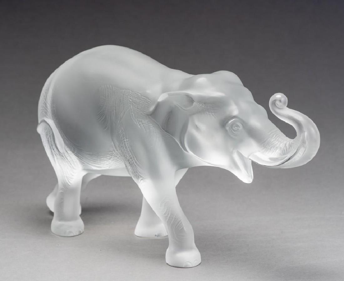 """Lalique, France """"Sumatra"""" Elephant, Signed Crystal - 3"""