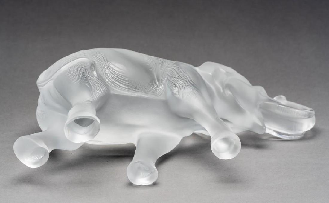 """Lalique, France """"Sumatra"""" Elephant, Signed Crystal - 7"""