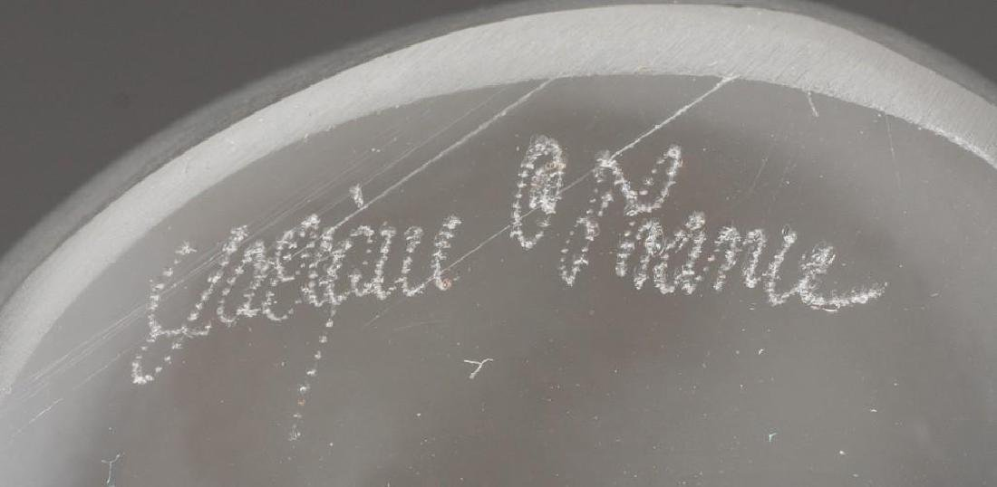 "Lalique, France ""Java"" Elephant, Signed Crystal - 2"