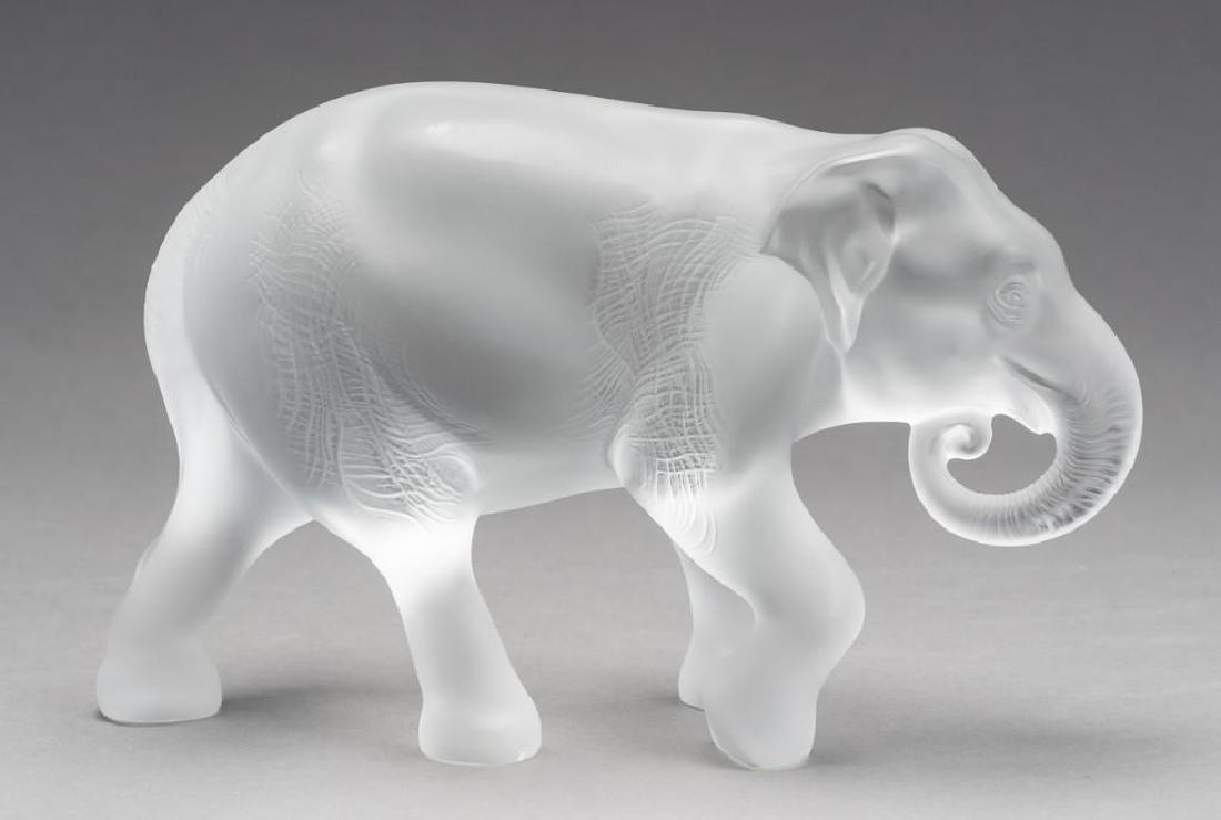"Lalique, France ""Java"" Elephant, Signed Crystal - 3"