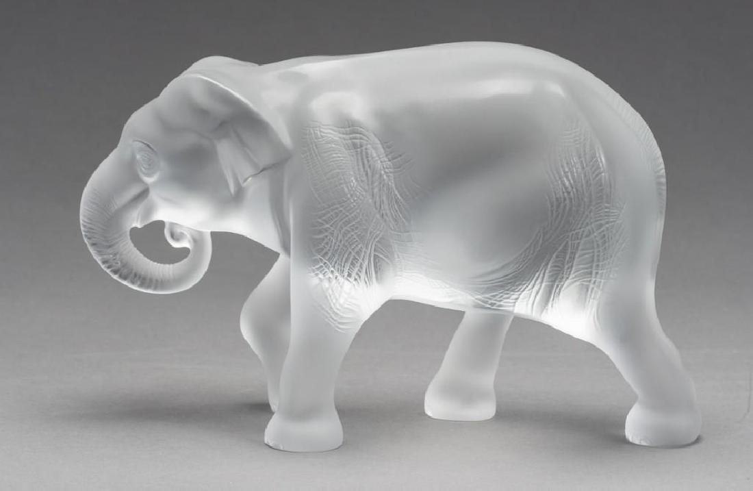 "Lalique, France ""Java"" Elephant, Signed Crystal - 5"