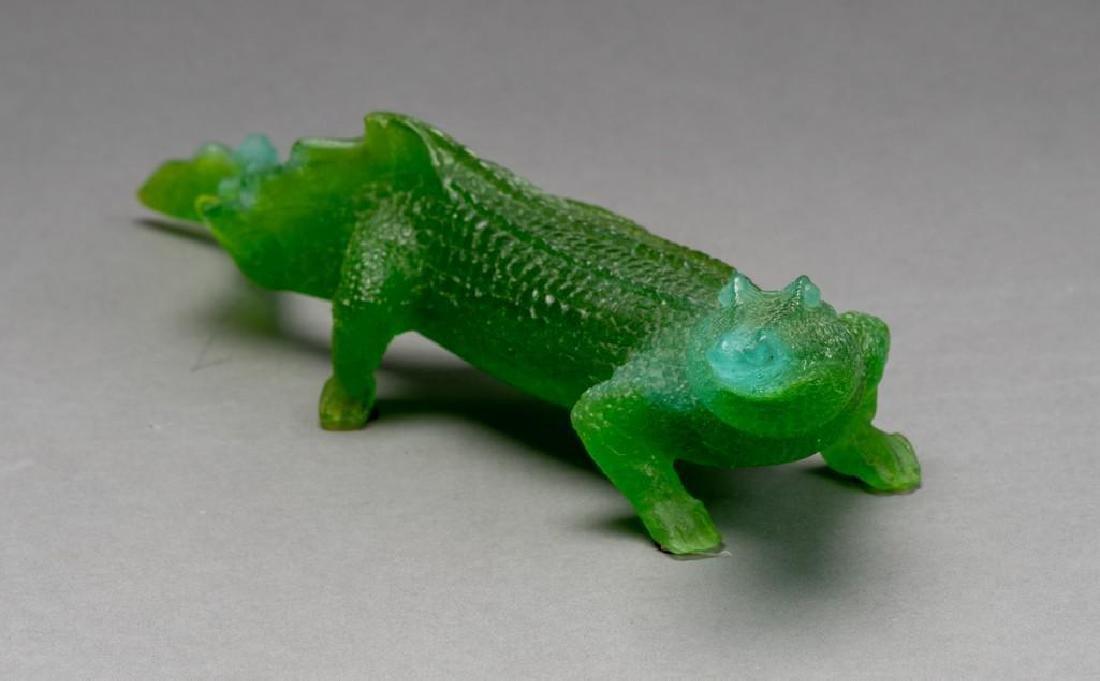 Daum French Art Glass Pate de Verre Crocodile - 3