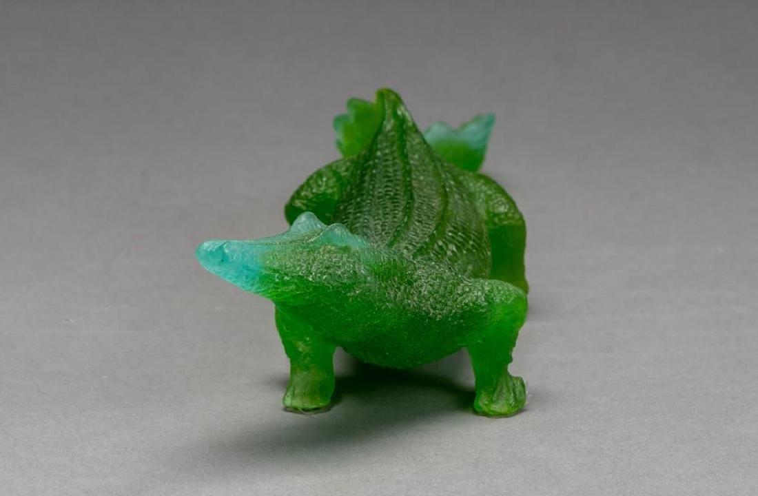 Daum French Art Glass Pate de Verre Crocodile - 4