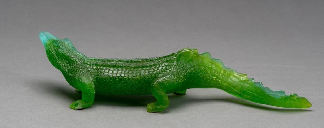 Daum French Art Glass Pate de Verre Crocodile - 6
