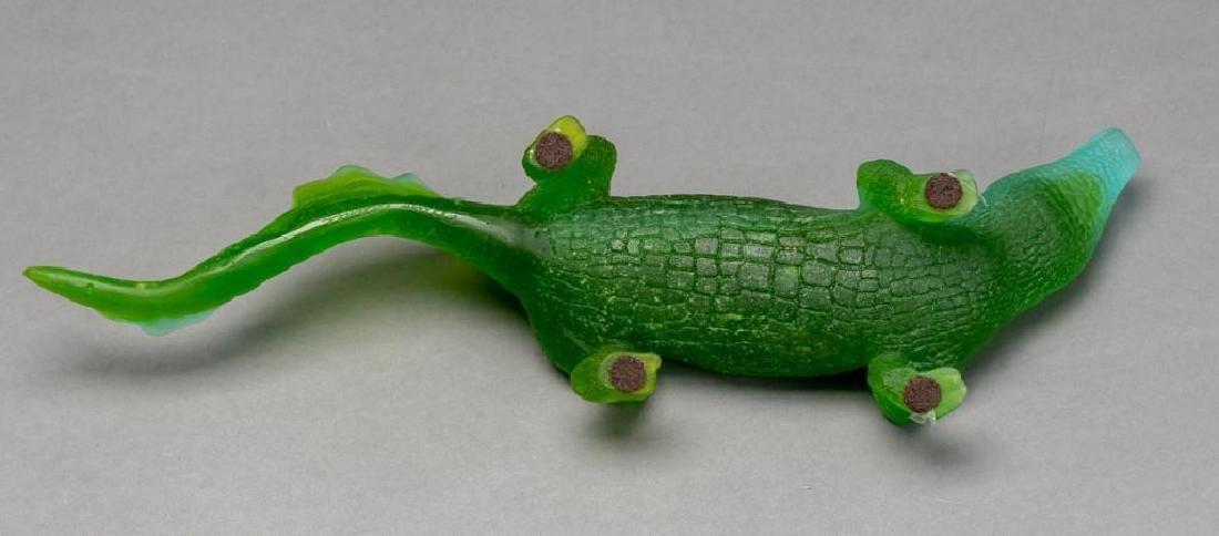 Daum French Art Glass Pate de Verre Crocodile - 7