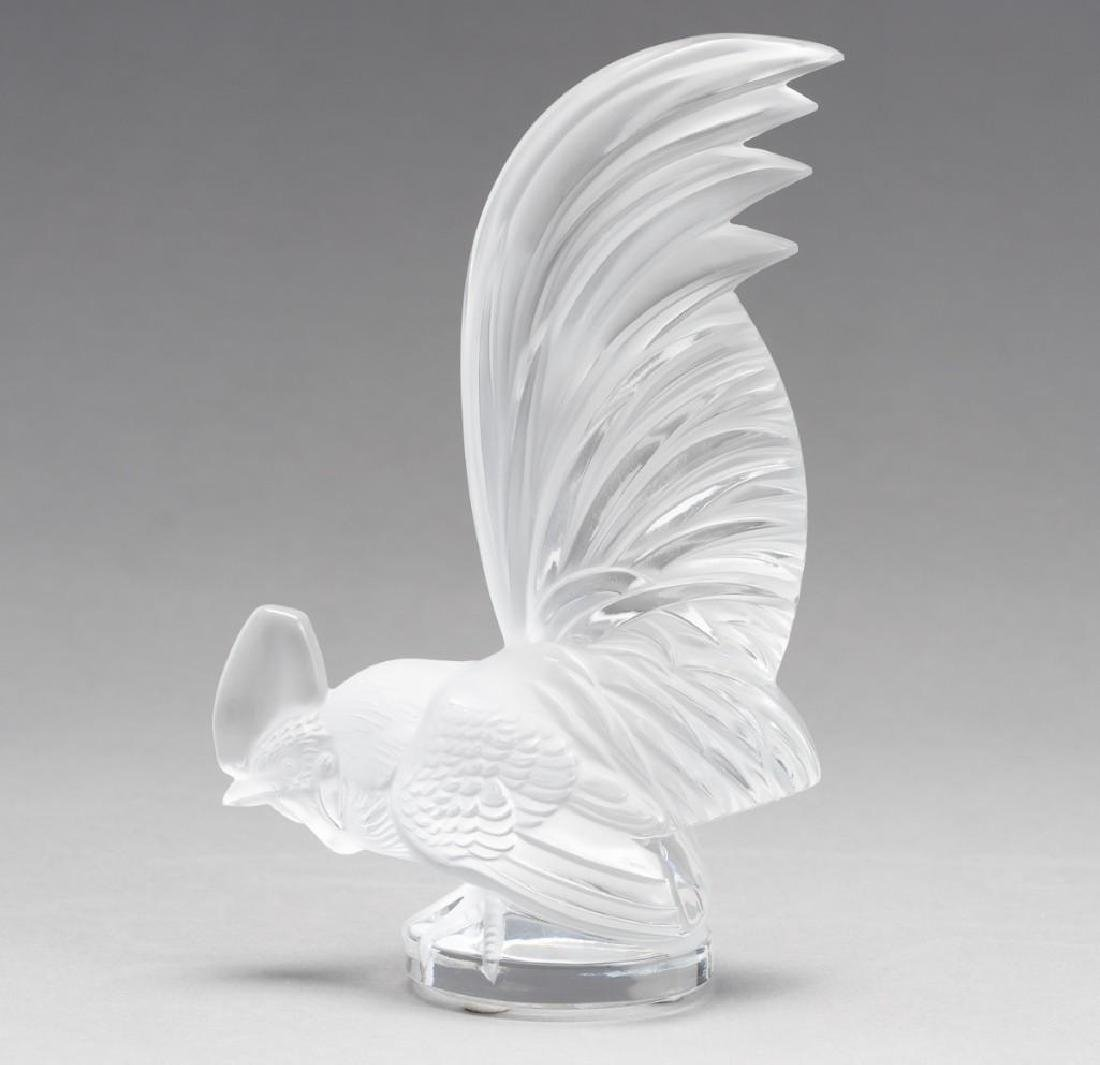 "Lalique, France ""Coq Nain"",  Signed Crystal Rooster"