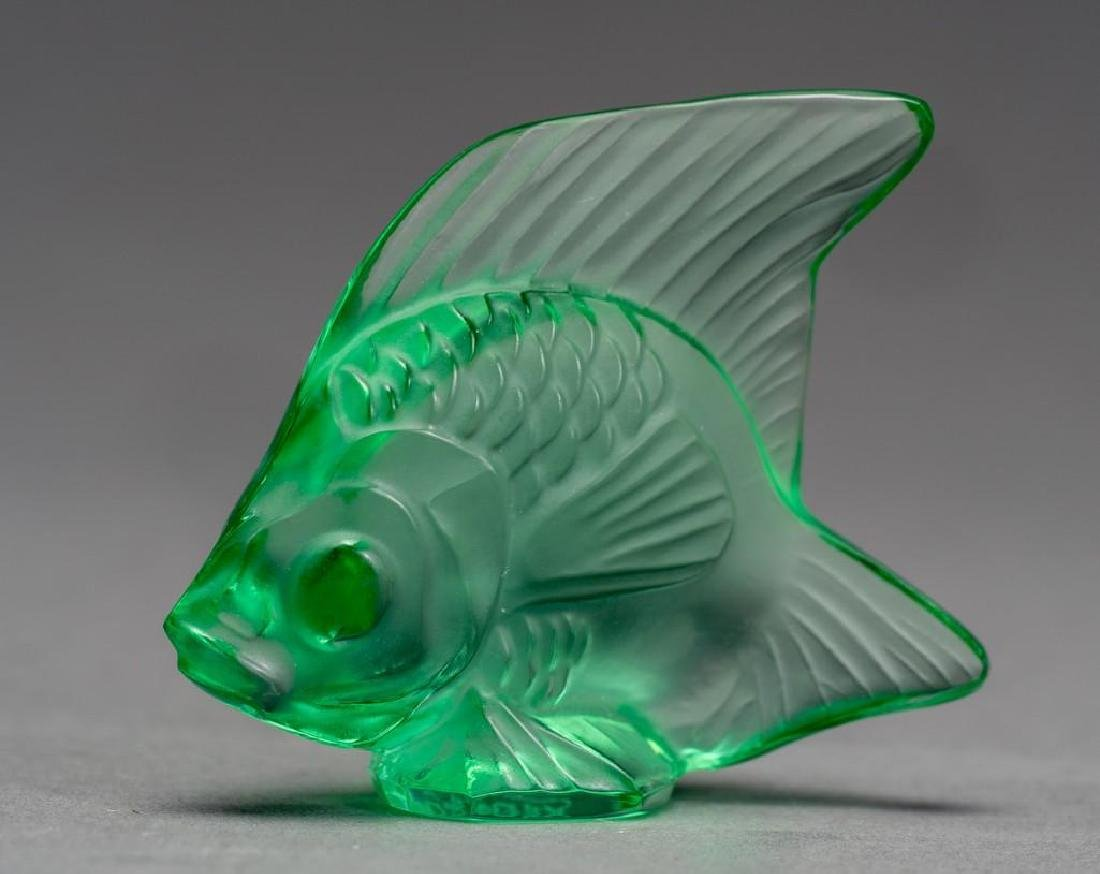 "Lalique, France ""Poisson"", (19) Crystal Fish Figures - 3"