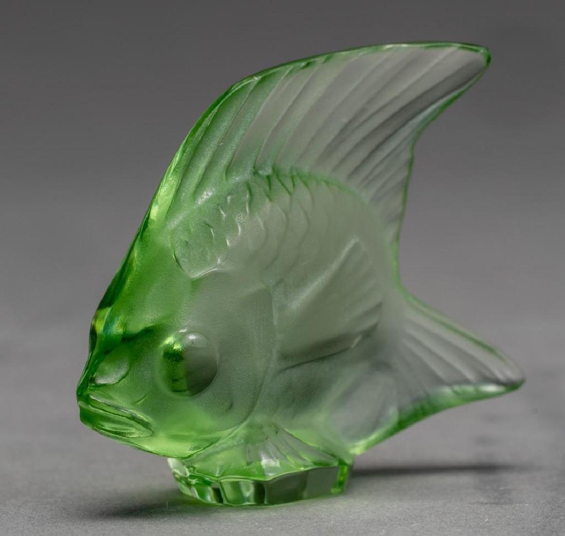 "Lalique, France ""Poisson"", (19) Crystal Fish Figures - 4"