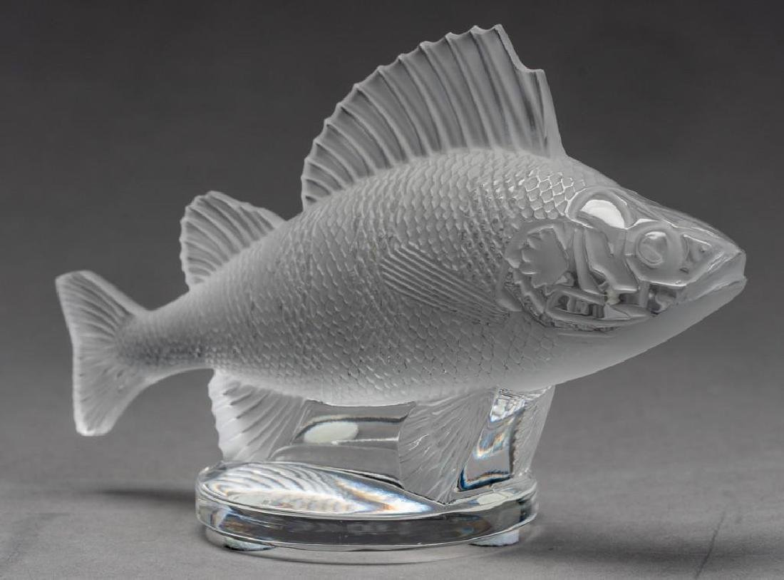 "Lalique, France ""Poisson"", (19) Crystal Fish Figures - 5"