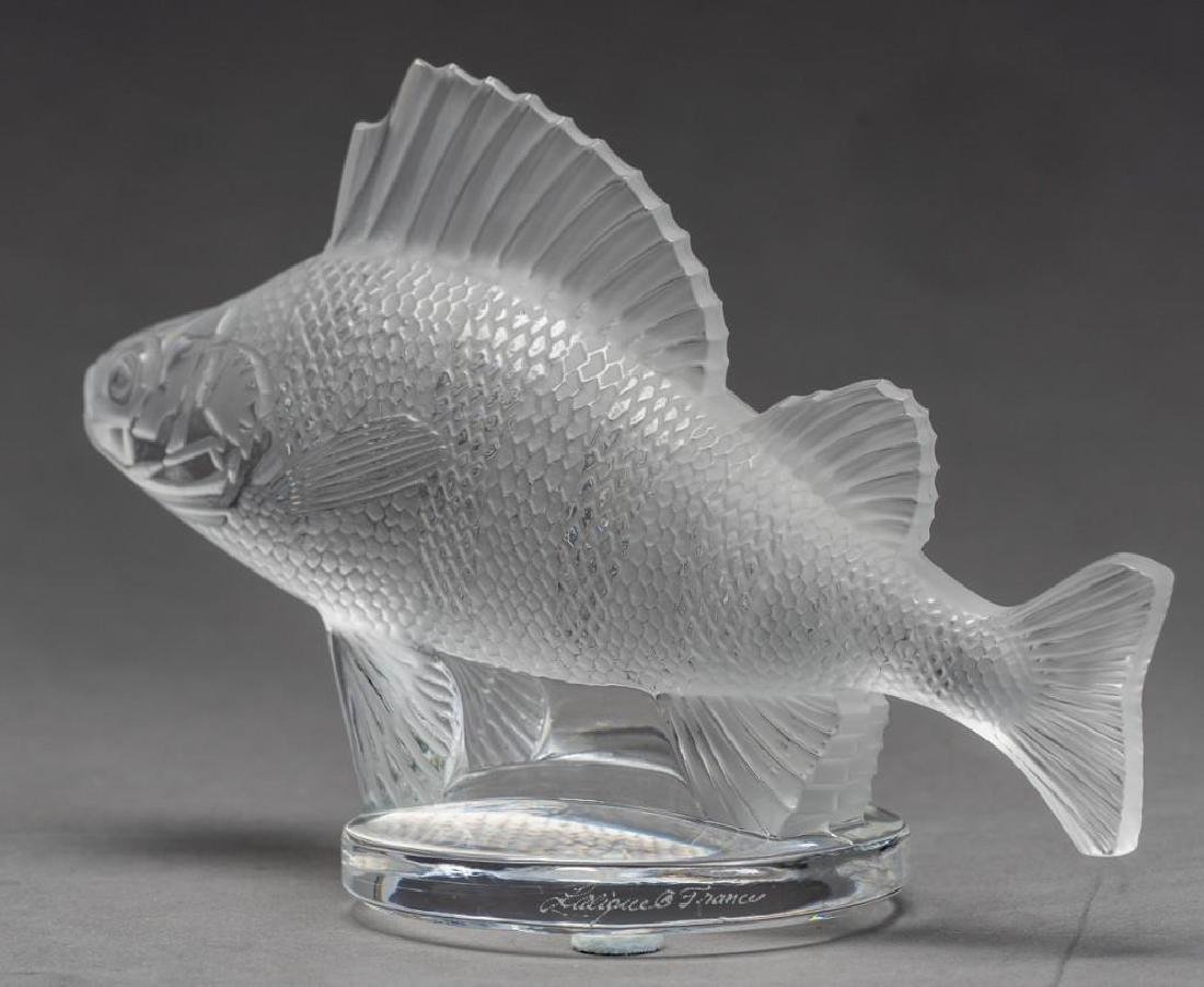 "Lalique, France ""Poisson"", (19) Crystal Fish Figures - 6"