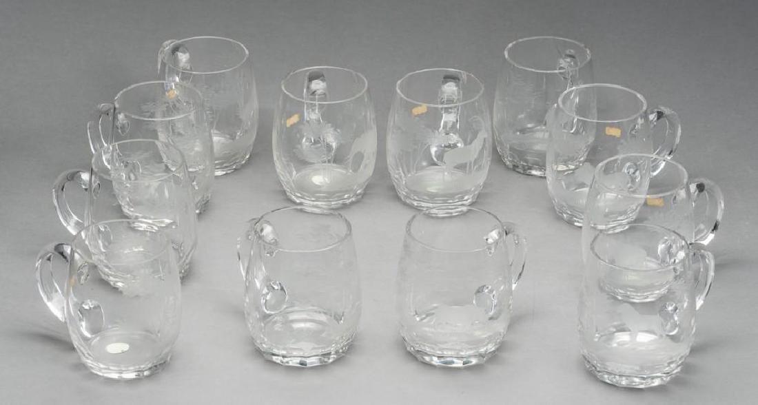"Rowland Ward Ltd, ""Big Game"" (12) Crystal Mugs"