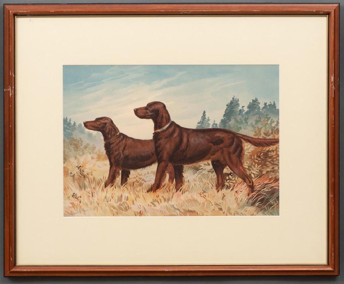Alexander Pope, Jr. (1849-1924) Set of 6 Framed Dog - 10