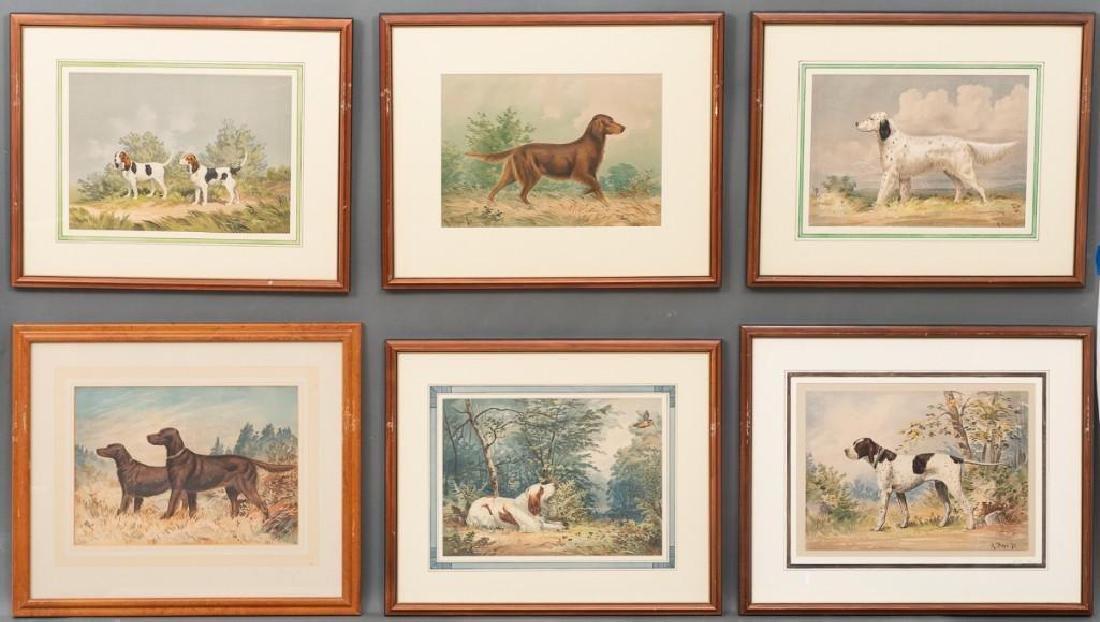 Alexander Pope, Jr. (1849-1924) Set of 6 Framed Dog