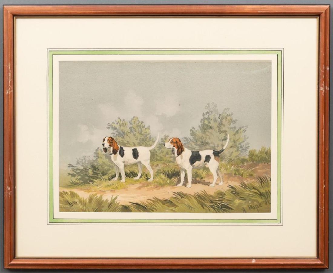 Alexander Pope, Jr. (1849-1924) Set of 6 Framed Dog - 2