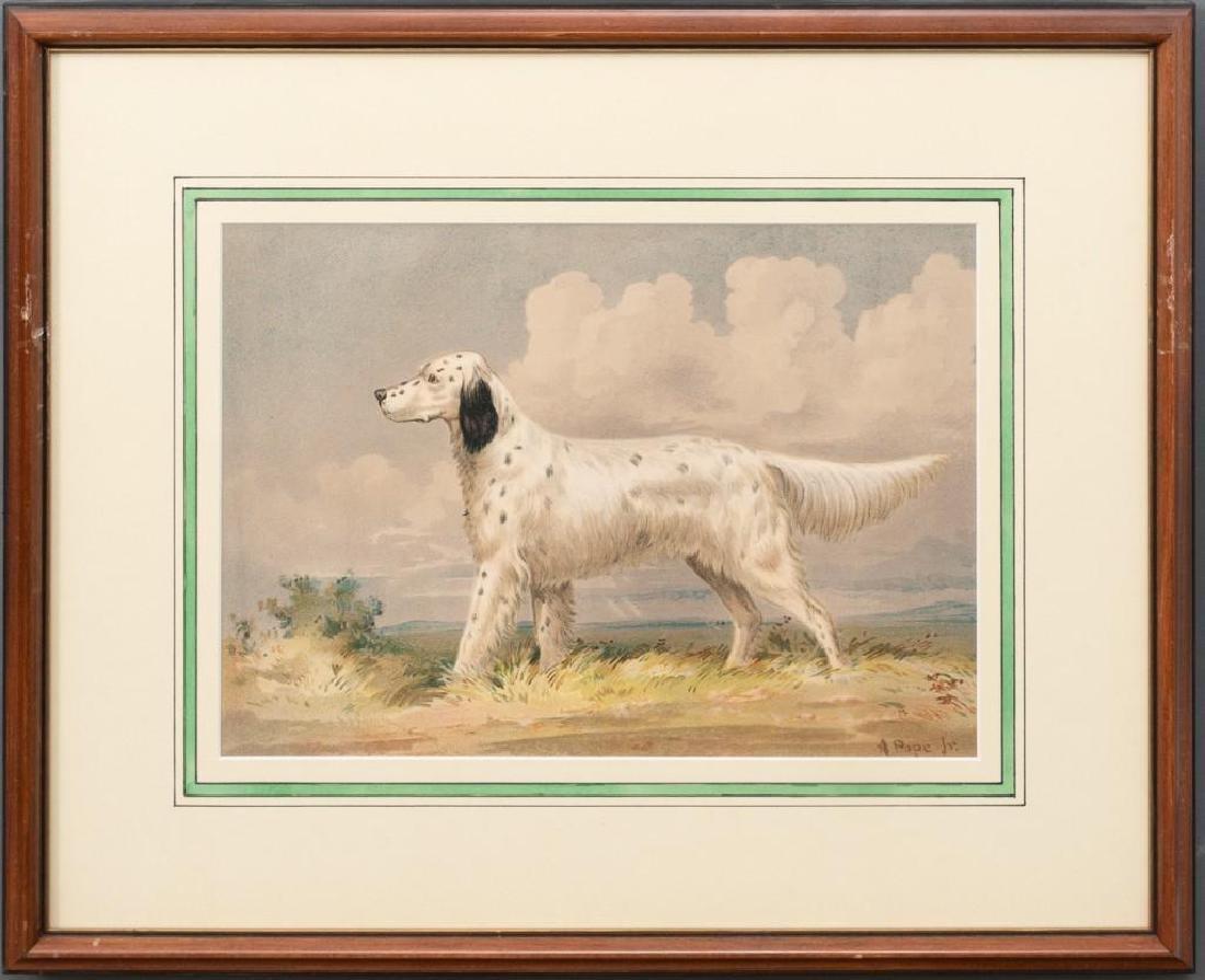 Alexander Pope, Jr. (1849-1924) Set of 6 Framed Dog - 4