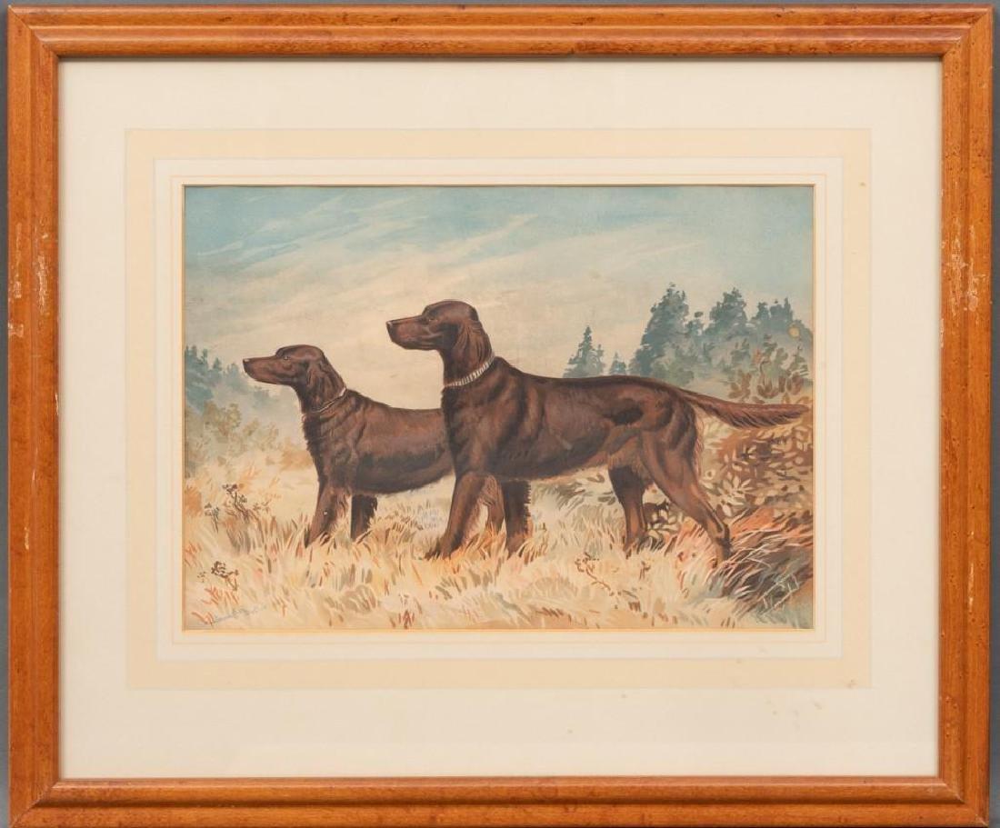 Alexander Pope, Jr. (1849-1924) Set of 6 Framed Dog - 8