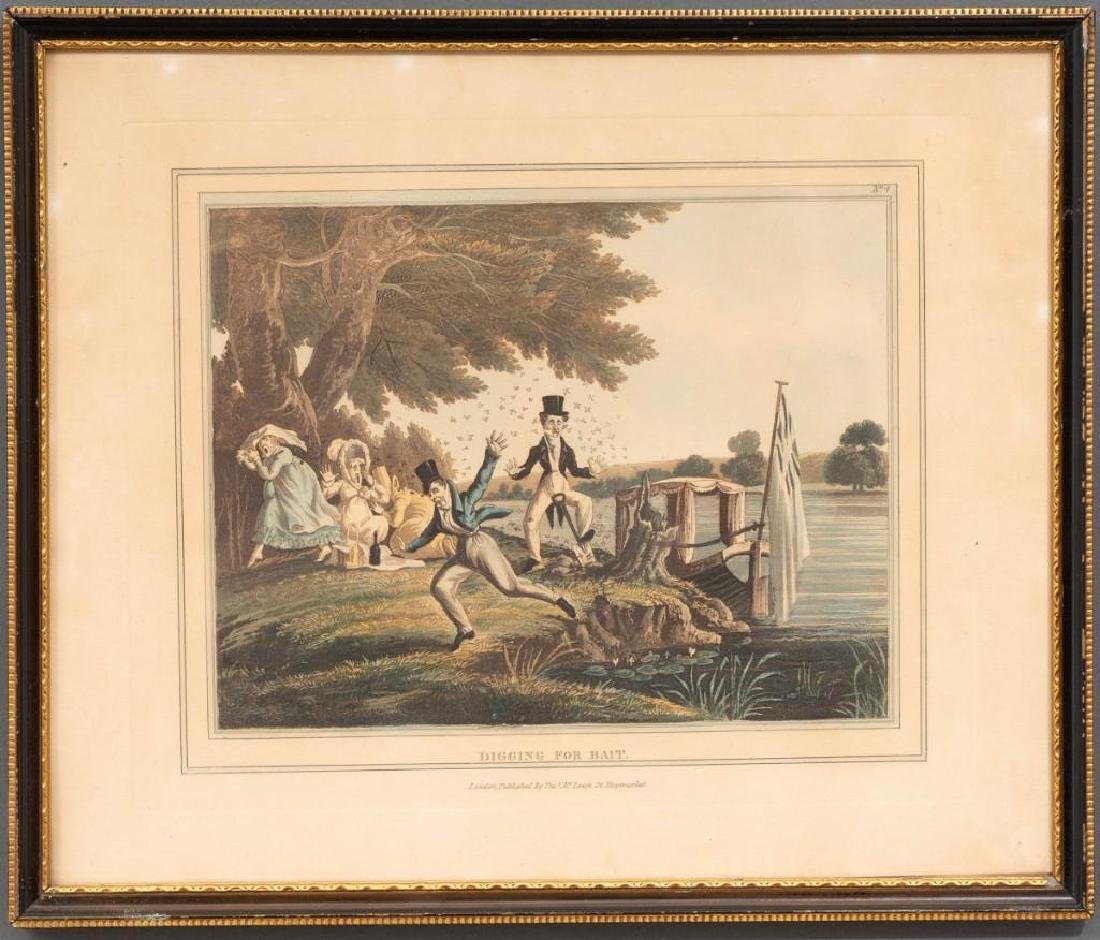 Set of 5 Hand-Colored Engravings - 5