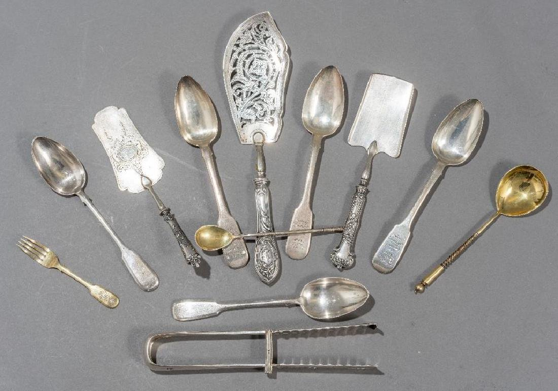 Russian (19th/20th c.) Assorted   Silver Serving Pieces