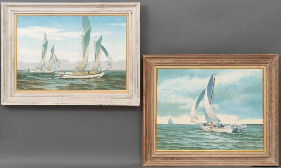 John Moll (1910-1991) Pair of Sail Boat Paintings
