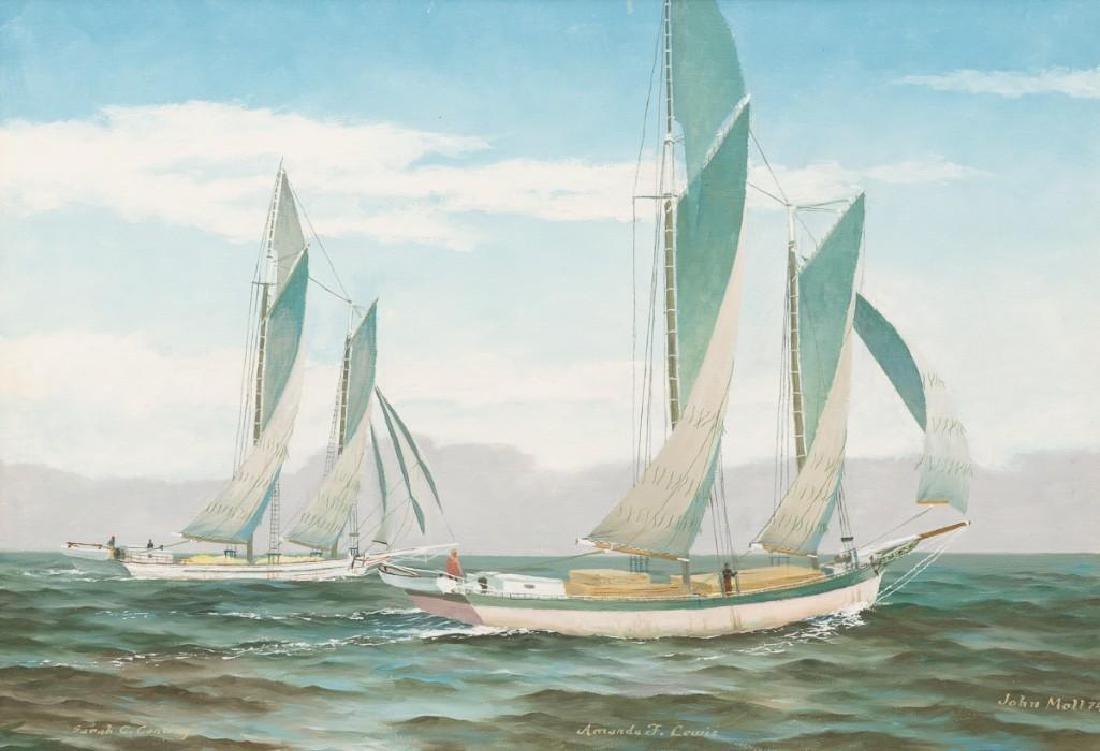 John Moll (1910-1991) Pair of Sail Boat Paintings - 2