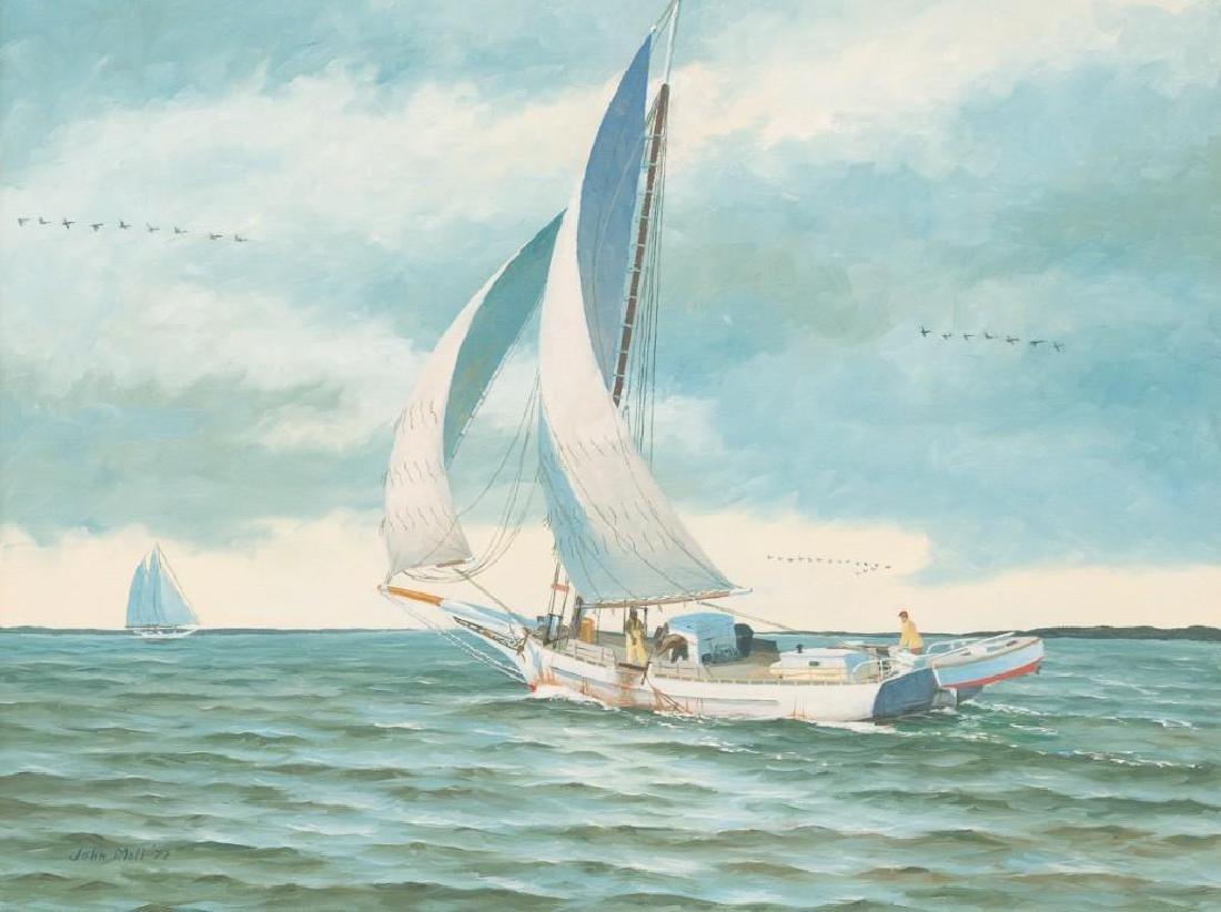 John Moll (1910-1991) Pair of Sail Boat Paintings - 4