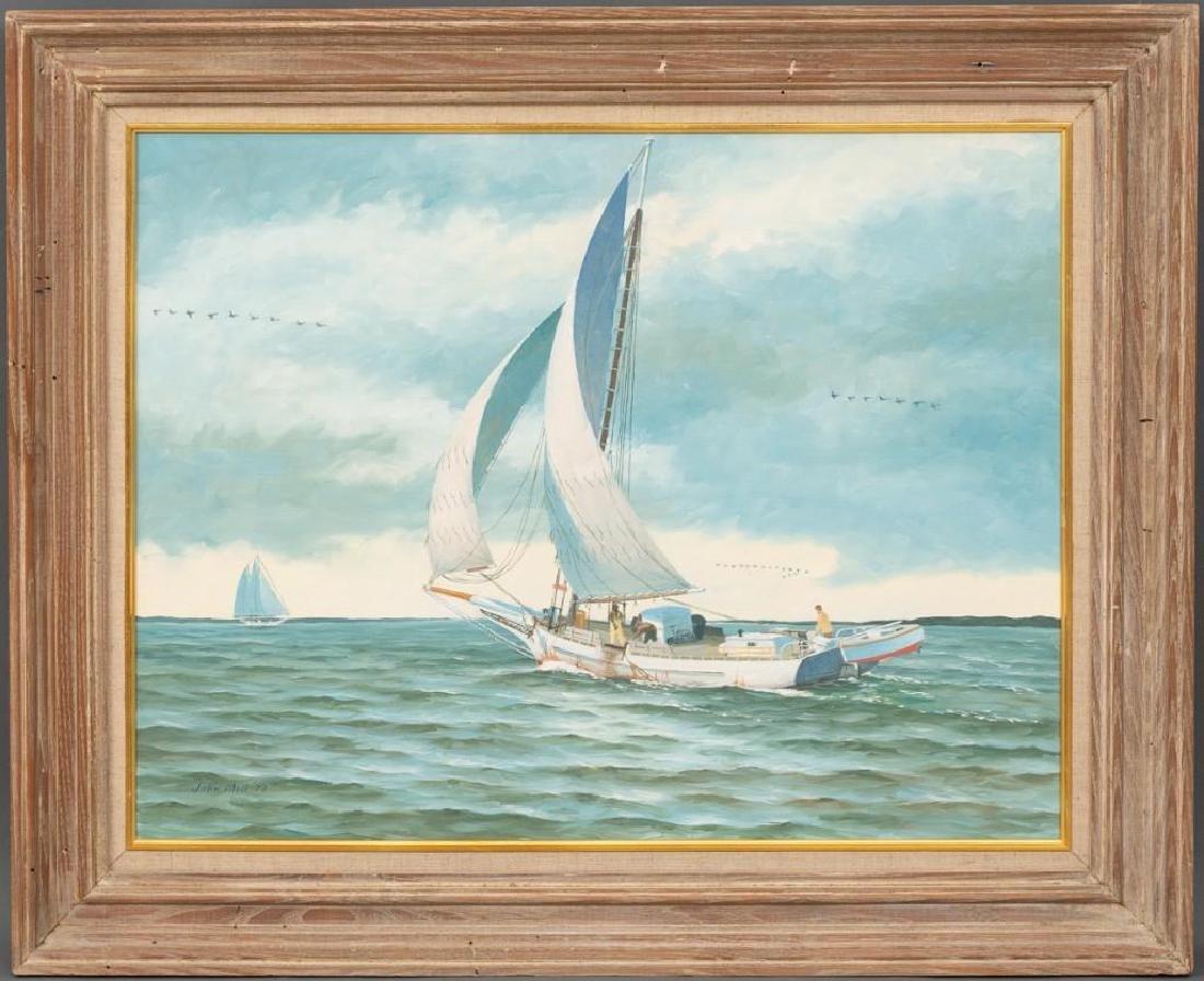 John Moll (1910-1991) Pair of Sail Boat Paintings - 8