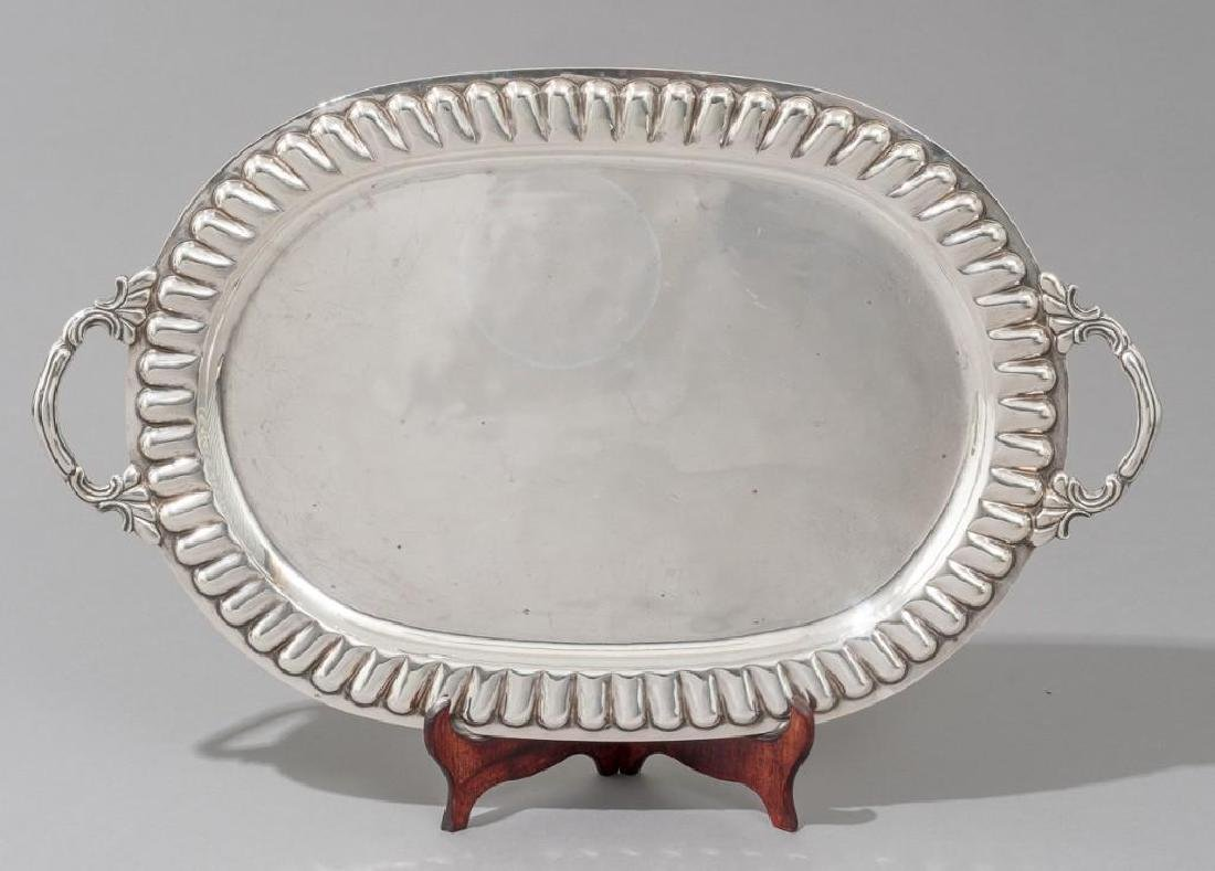 Mexican Sterling Silver Waiter Tray by Sanborns - 3