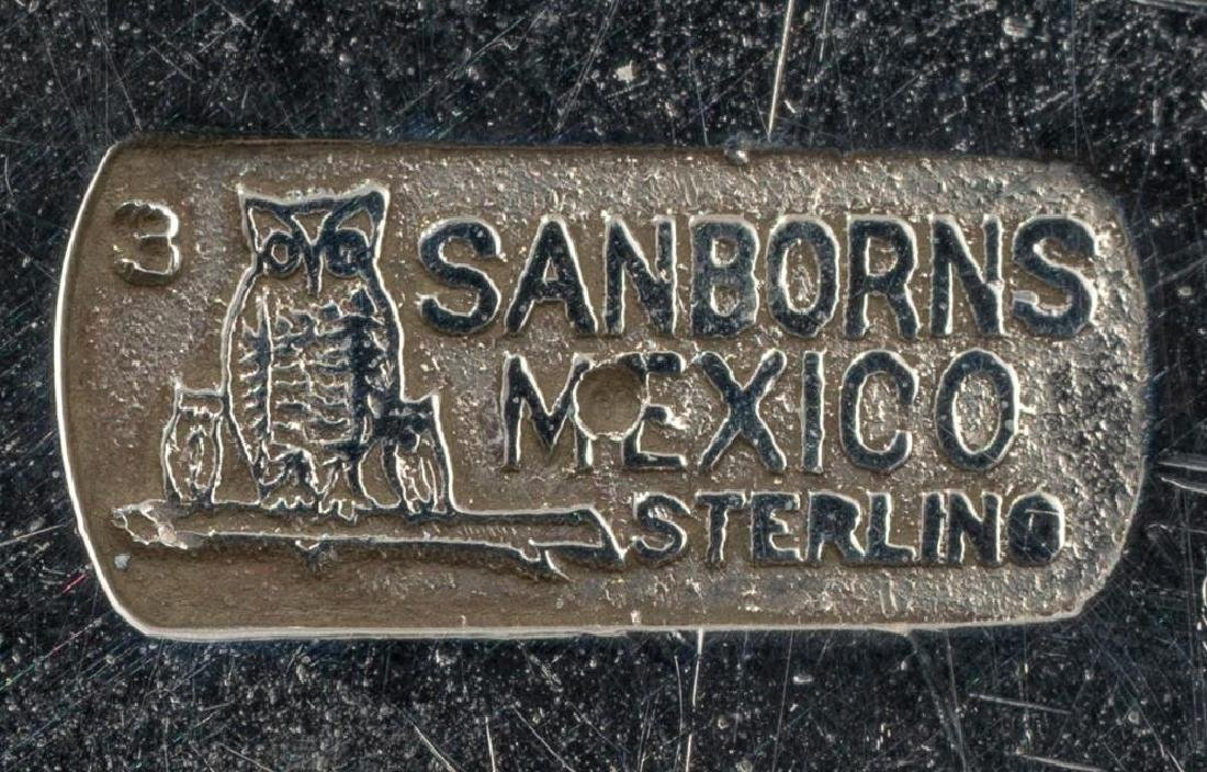 Mexican Sterling Silver Waiter Tray by Sanborns - 7