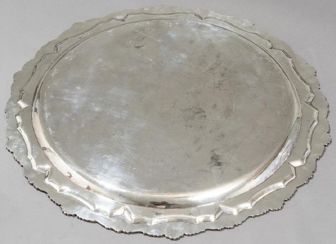 "Conquistador 25.5"" Diam Mexican Sterling Silver Tray - 3"