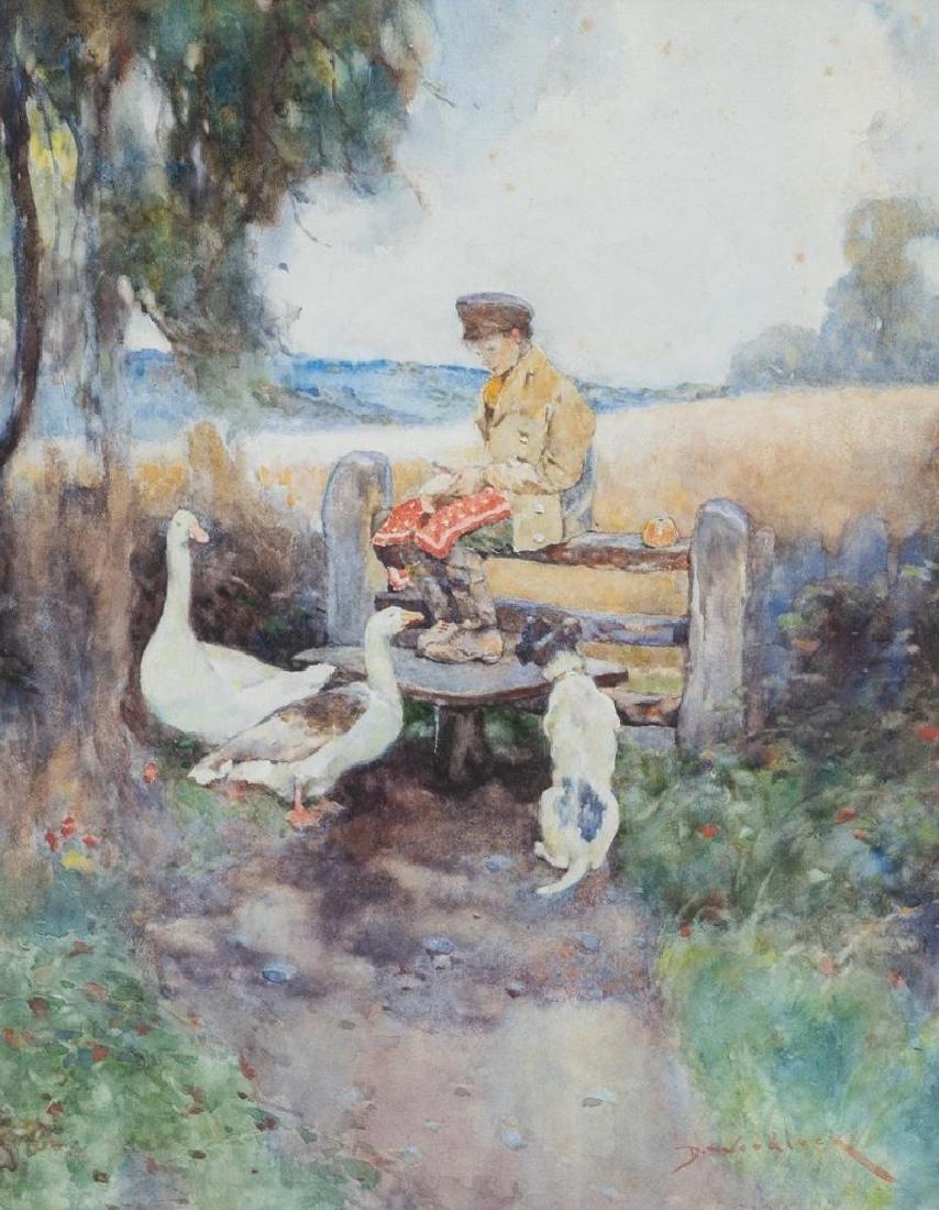 David Woodlock (British, 1842-1929), Pair of - 2