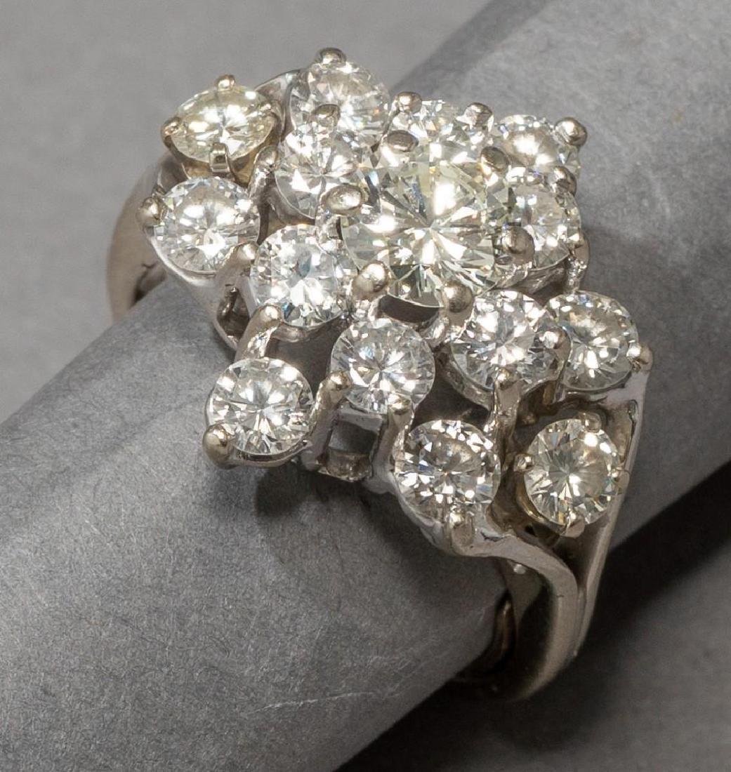 Estate 2.38 ctw. Diamond Cocktail Ring