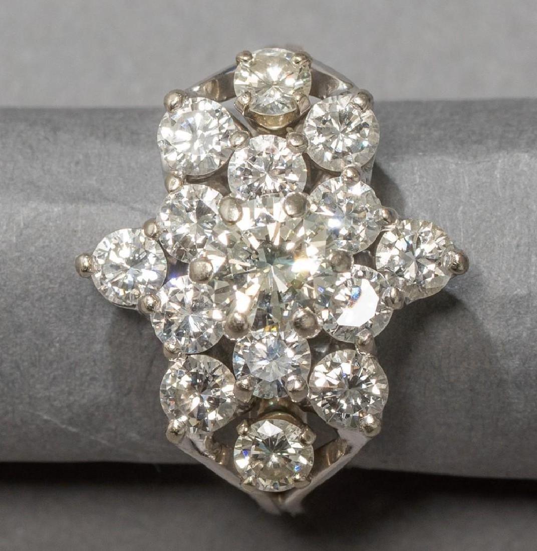 Estate 2.38 ctw. Diamond Cocktail Ring - 2