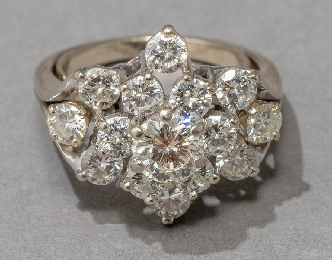 Estate 2.38 ctw. Diamond Cocktail Ring - 3
