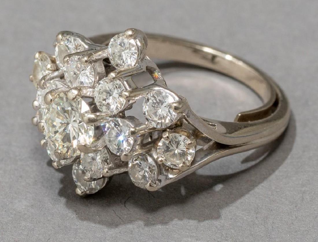 Estate 2.38 ctw. Diamond Cocktail Ring - 4