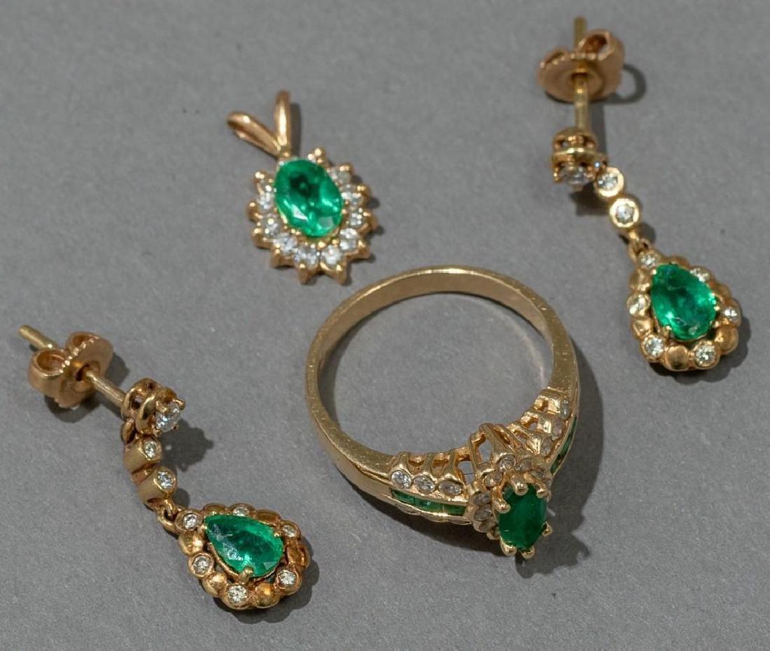 Estate Jewelry Ladies' Emerald & Diamond Suite