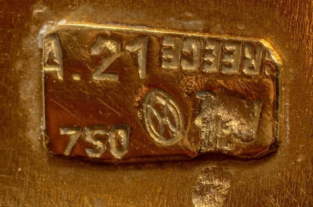 18k Gold Greek Byzantine Style Cuff Bracelet - 3