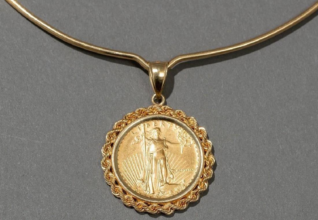 American Eagle Gold Coin Pendant