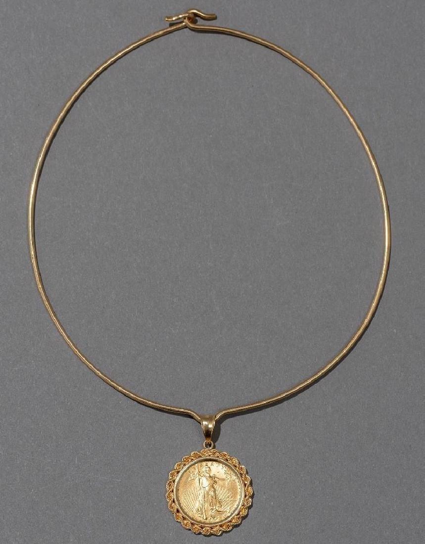American Eagle Gold Coin Pendant - 2